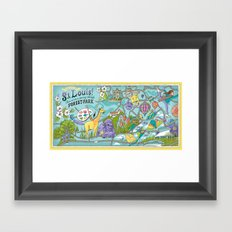 Map of Forest Park Framed Art Print