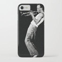 Miles#Davis Reproduction Jazz Poster, Miles#Davis - Black & White, Home Wall Art iPhone Case