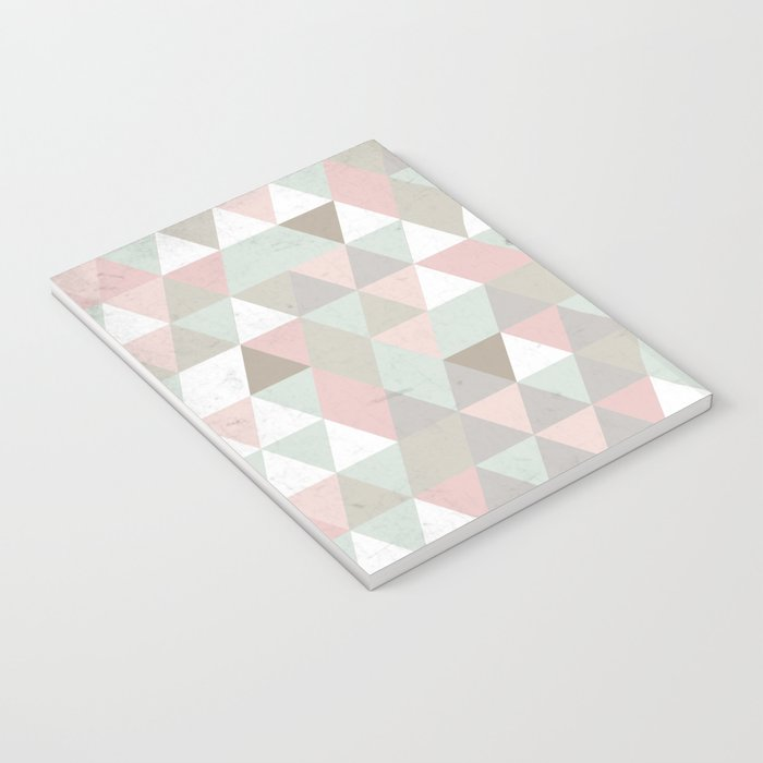 Shabby chic triangles Notebook
