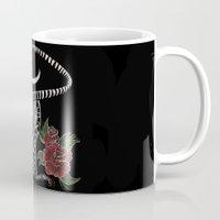 dia de los muertos Mugs featuring Dia De Los Muertos by Erin Rose