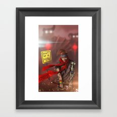 Fear Is Not An Option Framed Art Print