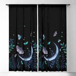 Moth Garden Blackout Curtain