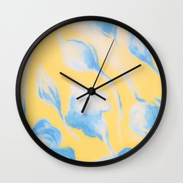 YELLOW FLOWERS NO 1 Wall Clock