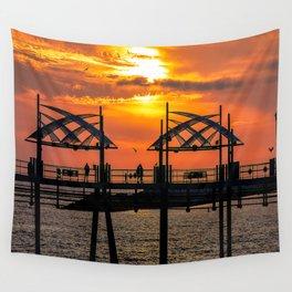 California Dreaming - Redondo Beach Pier Wall Tapestry