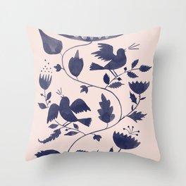Singing Birds Throw Pillow