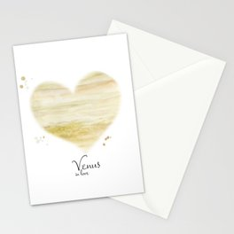 Venus in love Stationery Cards