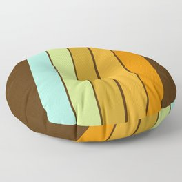 Fer Shure - retro throwback minimal 70s style decor art minimalist 1970's vibes Floor Pillow
