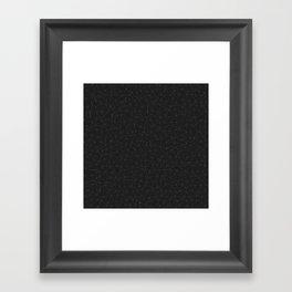 Elegant White and grey geometric mesh Framed Art Print