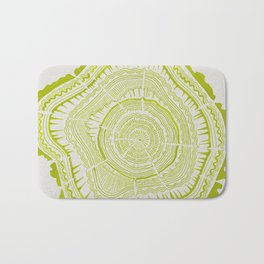 Lime Tree Rings Bath Mat