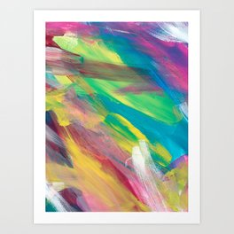 Abstract Artwork Colourful #2 Art Print