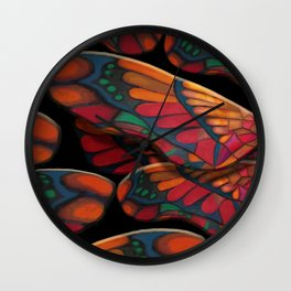 """A thousand colors of butterfly wings"" Wall Clock"