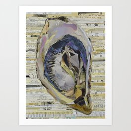 Oyster Collage by C.E. White Art Print