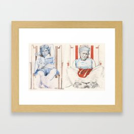 Mick and Keith Framed Art Print