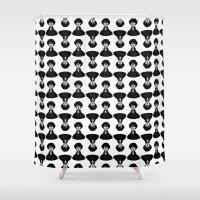 sherlock Shower Curtains featuring Sherlock by Blanca Limón