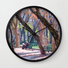 Winter in Rome, Italy — L Diane Johnson Wall Clock