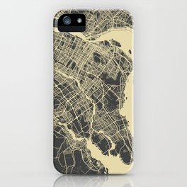 Montreal Map yellow iPhone Case