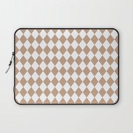 Natural Burlap Modern Diamond Pattern Laptop Sleeve