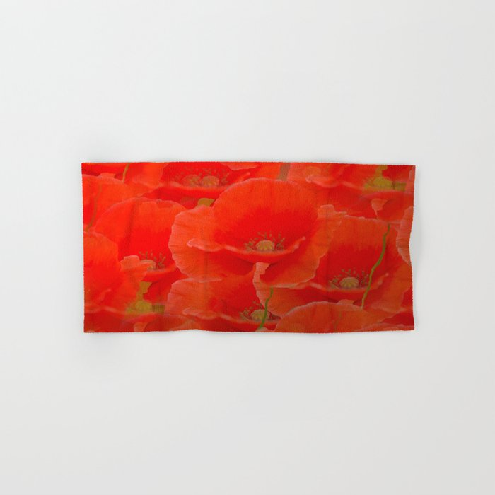 Red Poppies #decor #buyart #society6 Hand & Bath Towel