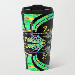 Aztec Malachite Dragon Calender Travel Mug