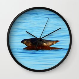 Wet Seal on a Rock Wall Clock