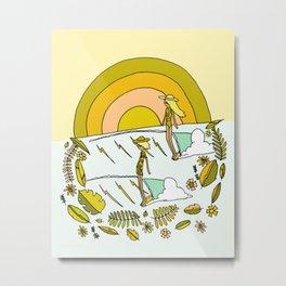summer time daydreams surf till sunset // retro surf art by surfy birdy Metal Print