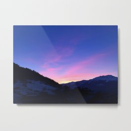 150. The Pink Mountain, France Metal Print