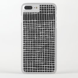 Left - Black and white Clear iPhone Case