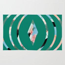 Abstract Brushstroke Circles Rug