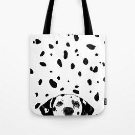 Dalmatian Spots Tote Bag