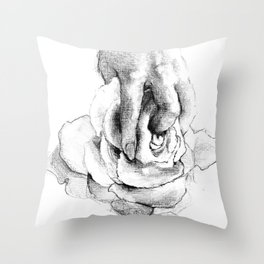Hand&Rose study I Throw Pillow