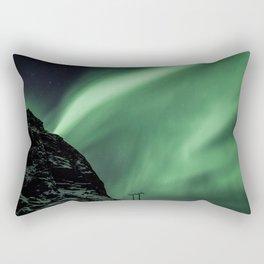 Aurora in Lofoten, Norway Rectangular Pillow