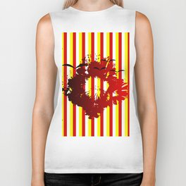 Abstract colorful striped Biker Tank