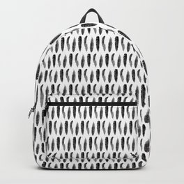 Feather Trio | Three Feathers | Bird Feathers | Black and White | Backpack
