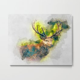 Mr. Deer  Metal Print
