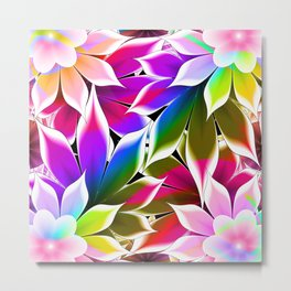 abstract flowers Metal Print