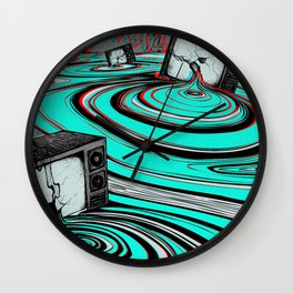 Lake of Static Wall Clock