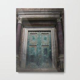 'Green Door' Rome Metal Print