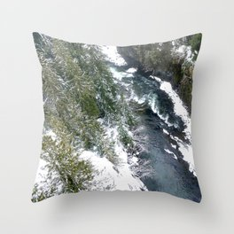 Cold stream Throw Pillow