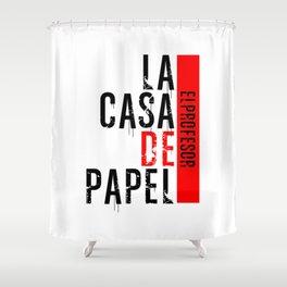 LA CASA DE PAPEL - EL PROFESOR Shower Curtain