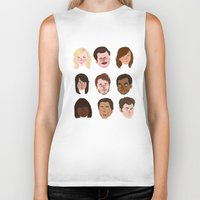 parks Biker Tanks featuring Parks and Rec by Emma Ehrling