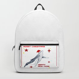 Merry Christmas Season greetings for whale lovers Backpack