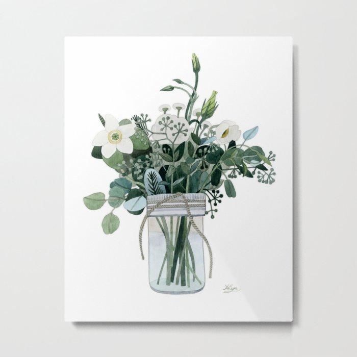 Forest Bouquet Metal Print