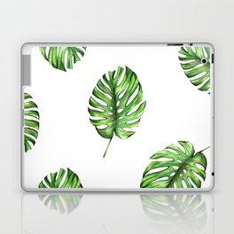 Monstera green leaves Laptop & iPad Skin