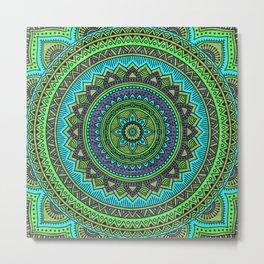 Hippie mandala 44 Metal Print