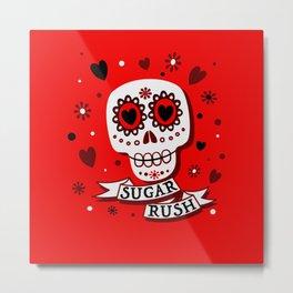 Sugar Rush Red Passion Metal Print