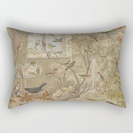 Antique Aviary Rectangular Pillow