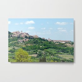 Traditional Village In Tuscany Metal Print