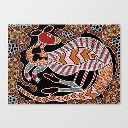 Aboriginal Art - Kangaroo Dreaming Canvas Print