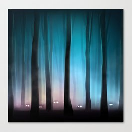 Spooky Forest Monsters Canvas Print