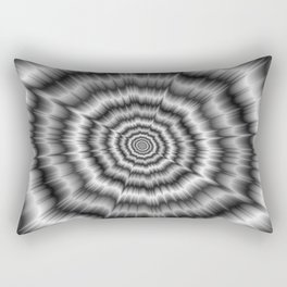 Explosion in Black and White Rectangular Pillow